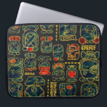 "Maya Calendar Glyphs composition Laptop Sleeve<br><div class=""desc"">Maya Calendar Glyphs composition</div>"