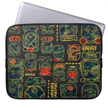 Maya Calendar Glyphs composition Laptop Sleeve
