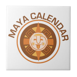 Maya Calendar Small Square Tile