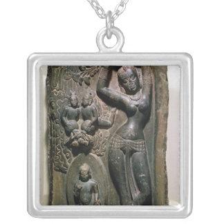 Maya de la reina que da a luz al Buda futuro Colgante Cuadrado