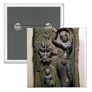 Maya de la reina que da a luz al Buda futuro Pin Cuadrada 5 Cm