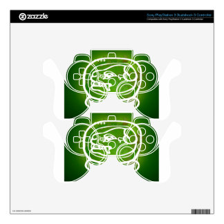 MAYA DOG GREEN BACKGROUND PRODUCTS PS3 CONTROLLER DECAL