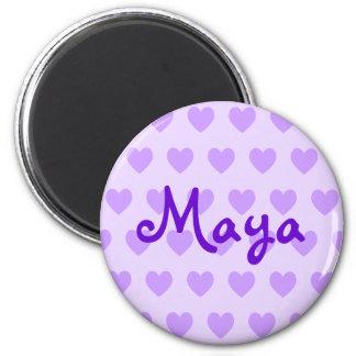 Maya en púrpura imán redondo 5 cm