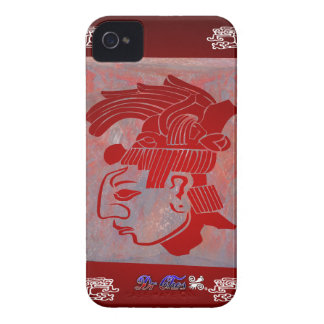 MAYA HEAD RED CUSTOMIZABLE PRODUCTS iPhone 4 CASE