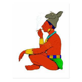 Maya indio cigarro fuman postales