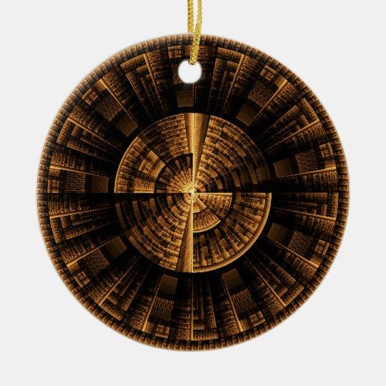 Maya Light Spin Ceramic Ornament