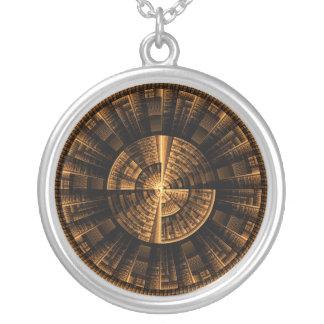 Maya Light Spin Round Pendant Necklace