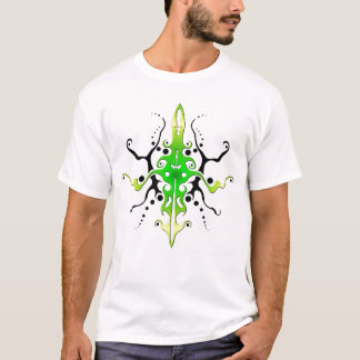 Maya Mask Tribal Tattoo - green T-Shirt