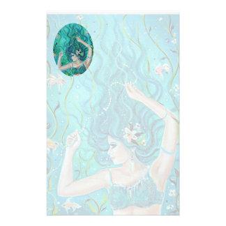 Maya Mermaid stationery by Renee L. Lavoie