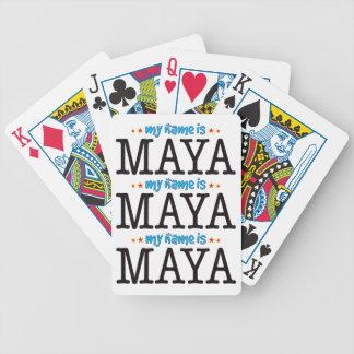 Maya Name Bicycle Playing Cards