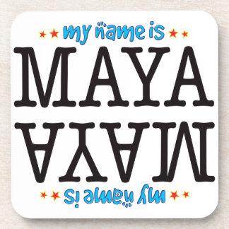 Maya Name Coasters