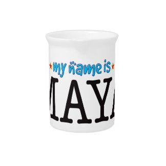Maya Name Drink Pitcher