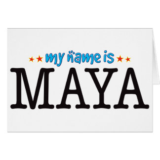 Maya Name Greeting Card