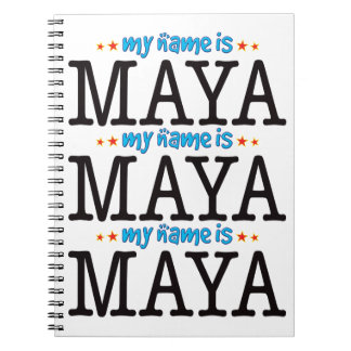Maya Name Notebook