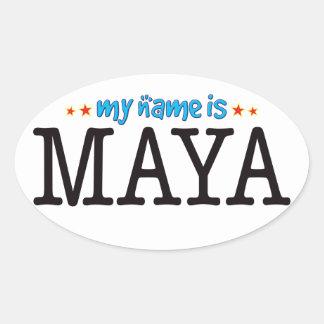Maya Name Oval Sticker