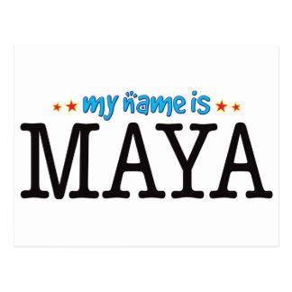 Maya Name Postcard