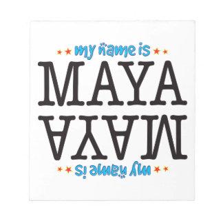 Maya Name Scratch Pads