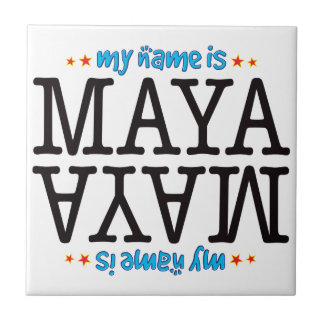 Maya Name Small Square Tile