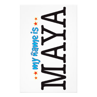 Maya Name Stationery