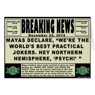Maya Practical Jokers. 2012 Card