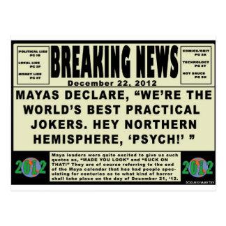 Maya Practical Jokers. 2012 Postcard