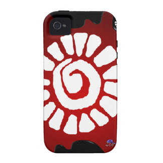 MAYA RED BACKGROUND PRODUCTS VIBE iPhone 4 CASE