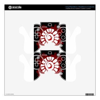MAYA RED BACKGROUND PRODUCTS PS3 CONTROLLER DECALS