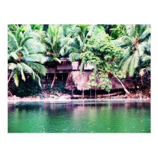 Maya Settlement, Rio Dulce, Guatemala Postcard