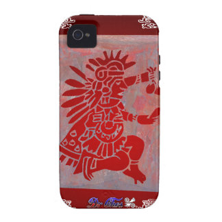MAYA SHAMAN RED CUSTOMIZABLE PRODUCTS VIBE iPhone 4 COVERS