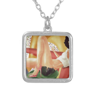 Maya Square Pendant Necklace