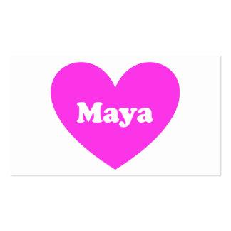 Maya Tarjeta De Visita