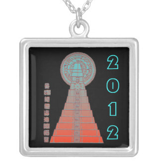 Maya Temple ~ 2012 Square Pendant Necklace