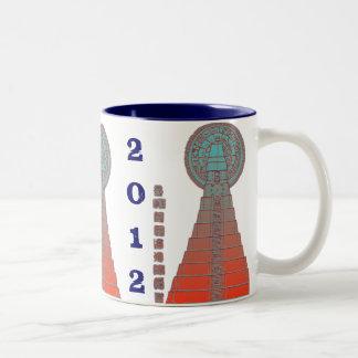 Maya Temple 2012 Two-Tone Coffee Mug
