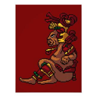 Maya Tribal God of Masculinity Pixel Photo Print
