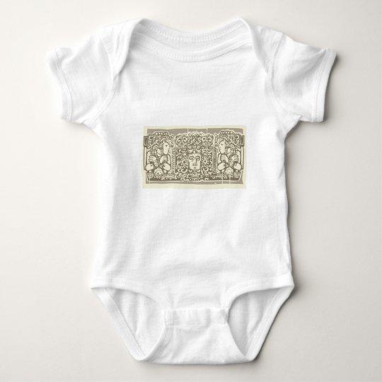 Maya Triptych Woodblock B Baby Bodysuit