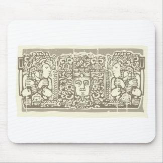 Maya Triptych Woodblock B Mouse Pad