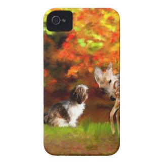 Maya with deer_Painting.jpg Case-Mate iPhone 4 Cases