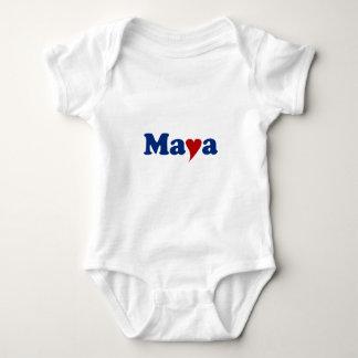 Maya with Heart Shirts
