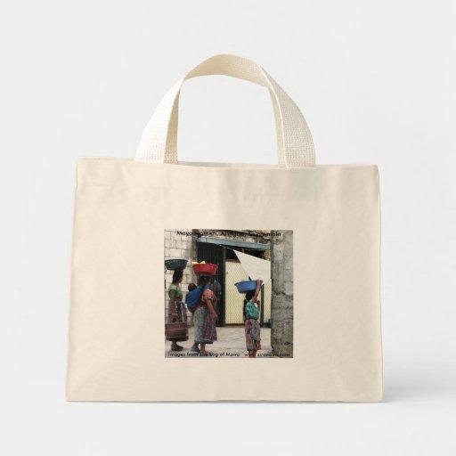 Maya women, Antigua, Guatemala.. Mini Tote Bag