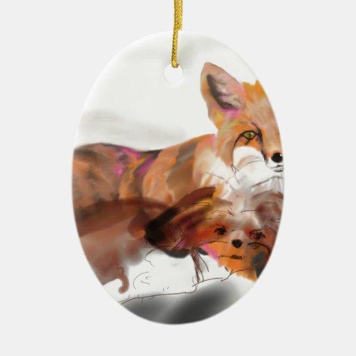 Maya y el zorro adornos de navidad