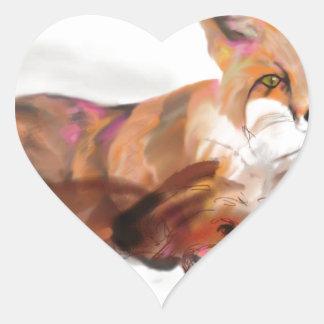 Maya y el zorro calcomanías de corazones personalizadas