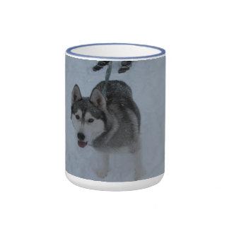 Mayaca a Snow Dog Ringer Mug