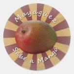 Mayagüez - Sabe un mango Pegatina Redonda