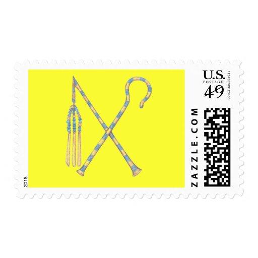 Mayal y ladrón timbre postal