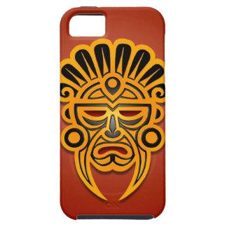 Mayamasken-Entwurf, und Schwarzes de Gelb iPhone 5 Case-Mate Cobertura