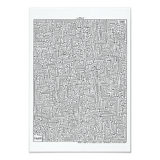 Mayan 1 Amazing Maze! Invitation