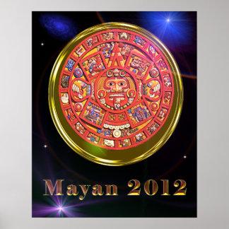 Mayan 2012 calendar poster
