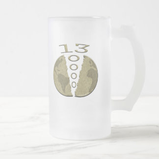 Mayan 2012 frosted glass beer mug