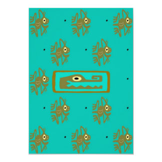 Mayan Alligator Frog Cover 2 Card