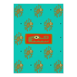 Mayan Alligator Frog Cover 2 Red Card